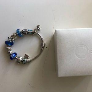 Beautiful Pandora charm bracelet with box